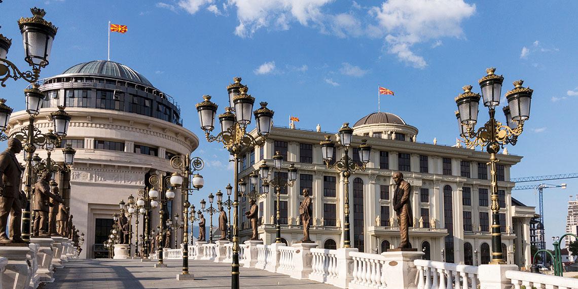 Los Balcanes por partes. Imagen: Skopje, capital de la Antigua República Yugoslava de Macedonia. Fuente: Revista en Exclusiva.