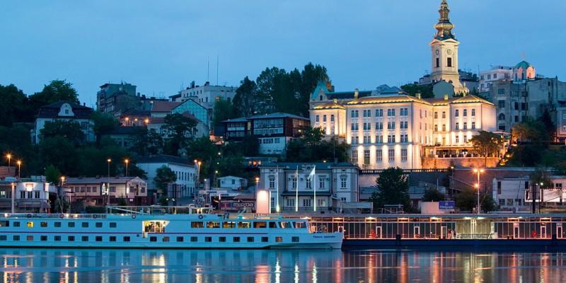 Vista de la parte antigua de Belgrado, la majestuosa capital de Serbia, que se encuentra entre los ríos Sava y Danubio.
