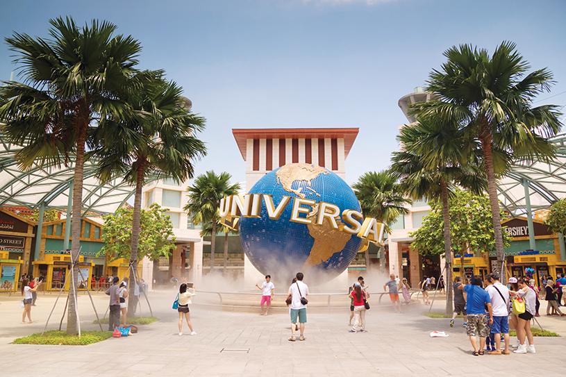 En la isla de Sentosa hay diversión para grandes y chicos. Es allí donde se encuentra el segundo parque de Universal Studios en Asia.