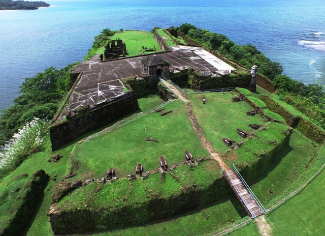 Vista aérea del fuerte San Lorenzo.