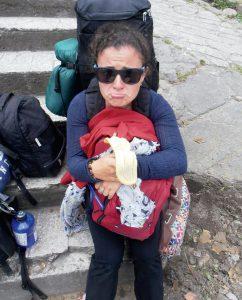 Viginia Con Su Backpack