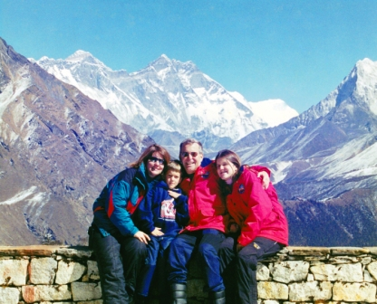 Sofía en el Monte Everest