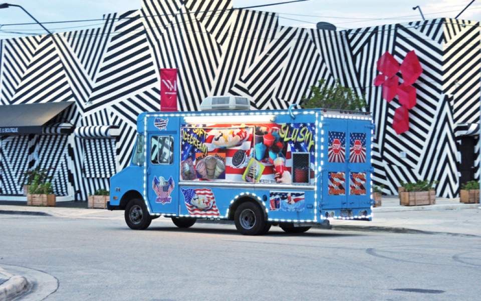 Traditional American Ice Cream Food Truck Small Business Wynwood Miami